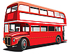 Vector clipart: Double decker bus