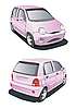 Vector clipart: little pink car