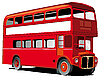 Vector clipart: London double decker bus