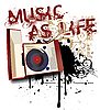 Music as Life | Stock Vector Graphics