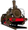Vector clipart: Old steam locomotive