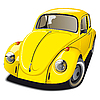Vector clipart: Old yellow car