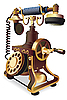 Old-style telephone design | Stock Vector Graphics
