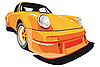 Orange car | Stock Vector Graphics