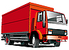 Vector clipart: Red truck