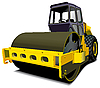 Vector clipart: road roller