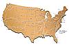 USA Eisenbahn-Karte