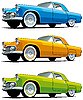 Vector clipart: American old cars