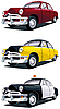 Vector clipart: American vintage car