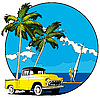 Vector clipart: Hawaiian vignette