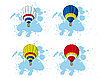 Vector clipart: hot air balloon