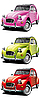 Vector clipart: old little car set