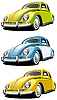 Old car set | Stock Vector Graphics