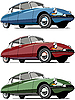 Old French cars | Stock Vector Graphics
