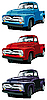 Old pickups | Stock Vector Graphics