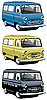 Old van set | Stock Vector Graphics