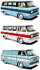 Vector clipart: retro van set