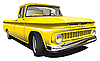 Yellow Pickup | Stock Vector Graphics