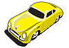 Yellow sport car | Stock Illustration