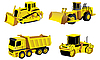 Road building machinery | Stock Vector Graphics