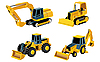Vector clipart: road building machinery
