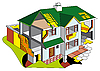 Vector clipart: House in section