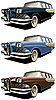 Vector clipart: old station wagon