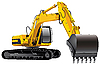 Vector clipart: Power Excavator