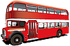 Vector clipart: red double decker bus