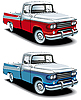 Vector clipart: retro american pickup