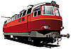 Vector clipart: retro electric train