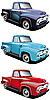 Retro style pickup | Stock Vector Graphics
