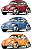 Vector clipart: old cars