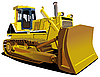 Yellow Dozer | Stock Vector Graphics