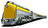 Vector clipart: yellow old train