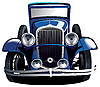 Blue vintage car | Stock Vector Graphics