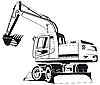 Vector clipart: Excavator outline