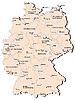 Векторный клипарт: железнодорожная карта Германия