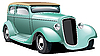 Vector clipart: Green Hot Rod
