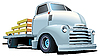 Vector clipart: Hot Rod Truck