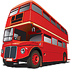 Vektor Cliparts: Bus aus London