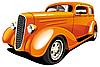 Vector clipart: Orange Hot Rod
