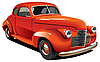 Vector clipart: Red old hot rod
