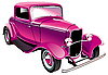 Pink vintage car | Stock Vector Graphics