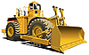 Vector clipart: wheeled dozer