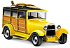 Vector clipart: Yellow Hot Rod