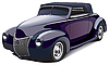 Vector clipart: black smart hot rod