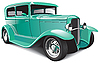 Vector clipart: Classical hot rod