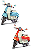 Vector clipart: old scooter