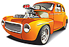 orange drag car